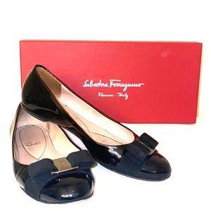 Salvatore Ferragamo patent leather flats Size 6.5